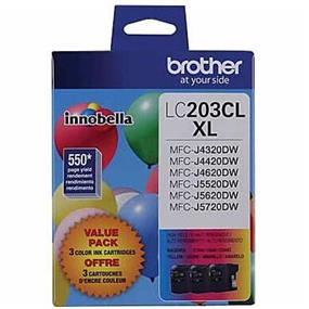 Brother LC-203 XL Tri-Color Ink Cartridge (LC2033PKS)