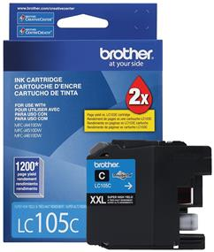 Brother Innobella LC105CS Ink Cartridge - Cyan - Inkjet - Super High Yield - 1200 Page