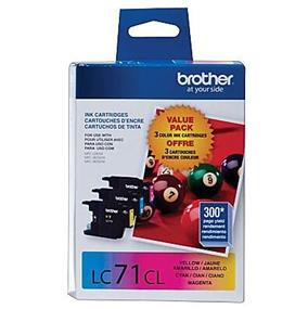 Brother LC-71 Tri-Color Ink Cartridge (LC713PKS)