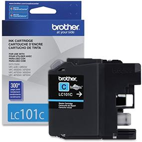 Brother LC-101C Ink Cartridge Cyan - Inkjet - Standard Yield - 300 Page