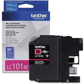 Brother LC101MS Ink Cartridge Magenta - Inkjet - Standard Yield - 300 Page