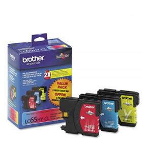 Brother LC-65 XL Tri-Color Ink Cartridges (LC653PKS)