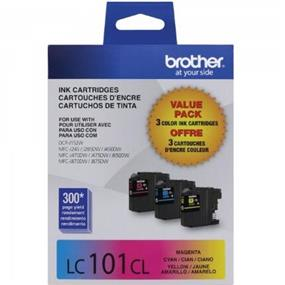 Brother LC-101 Tri-Color Ink Cartridge (LC1013PKS)