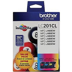 Brother LC-201 Tri-Color Ink Cartridge (LC2013PKS)