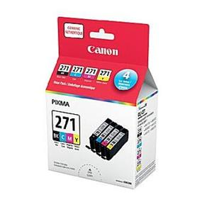 Canon CLI-271 Black + C/M/Y Ink Value Pack(0390C006)