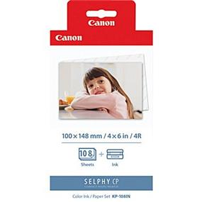 """Canon KP-108IN Color Ink Cartridge with 4"""" x 6"""" Standard Paper Set 108 Sheets"""