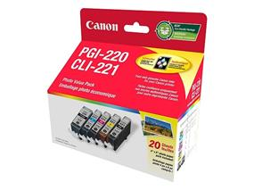 Canon PGI-220/CLI-221 Ink Cartridge and Photo Paper Value-Pack (2945B007)