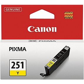 Canon CLI-251Y Ink Cartridge - Yellow (6516B001)