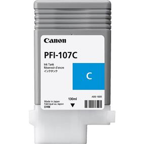 Canon PFI-107 Cyan Ink (130ml) for IPF670 / 680 / 685 / 770 / 780 / 785 (6706B001)
