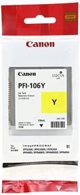 Canon PFI-106 Yellow 130ml Ink Tank (6624B001)