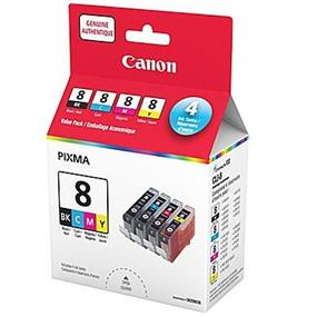 Canon CLI-8 Black and Colour Ink Cartridge Value Pack (0620B020)