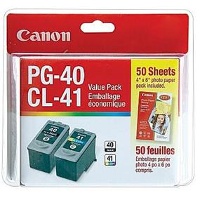 Canon PG-40 / CL-41 Black and Color Ink Cartridges Value Pack (0615B010)