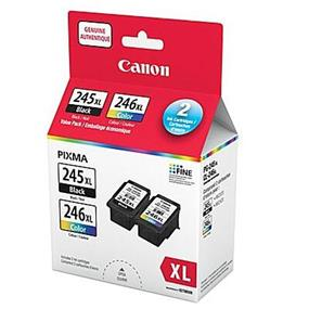 Canon PG-245 XL / CL-246 XL Black and Color Ink Cartridge Value Pack (8278B006)