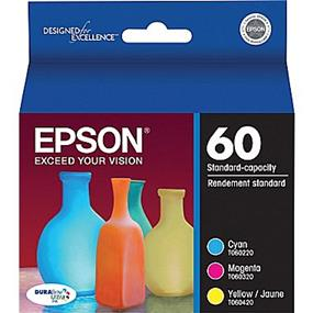 Epson 60 Tri-Color Ink Cartridge (T060520-S)
