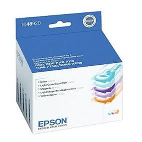 Epson 48 Tri-Color/LC/LM 5-Pack Ink Cartridge (T048920-S)
