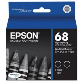 Epson 68 Dual XL Black Ink Cartridges (T068120-S)