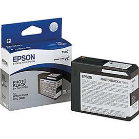Epson T5801 Photo Black Ultrachrome K3 Ink Cartridge