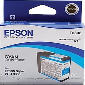 Epson T5802 Cyan Ultrachrome K3 Ink Cartridge