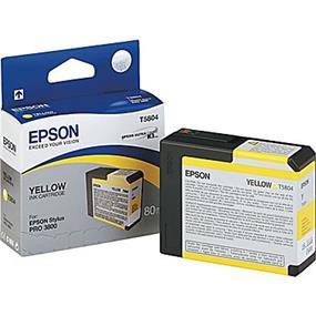 Epson T5804 Yellow Ultrachrome K3 Ink Cartridge