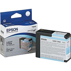 Epson T5805 Light Cyan Ultrachrome K3 Ink Cartridge
