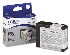 Epson T5807 Light Black Ultrachrome K3 Ink Cartridge