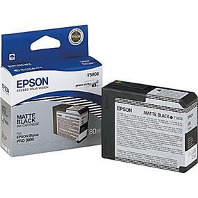 Epson T5808 Matte Black Ultrachrome K3 Ink Cartridge