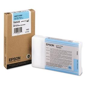Epson T6025 Light Cyan UltraChrome K3 110ml Ink Cartridge