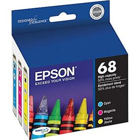 Epson 68 XL Tri-Color Ink Cartridges (T068520-S)