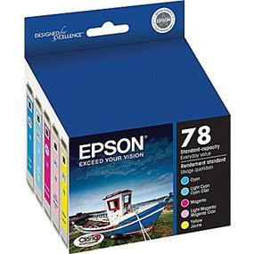 Epson 78 Tri-Color/LC/LM 5-Pack Ink Cartridges (T078920-S)