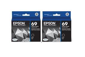 Epson 69 Black Dual Pack Ink Cartridge