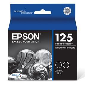 Epson 125 Black Dual Pack Ink Cartridges