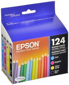 Epson 124 C/M/Y/K 4-Pack Ink Cartridge