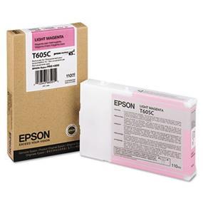 Epson T605C Light Magenta UltraChrome K3 110ml Ink Cartridge
