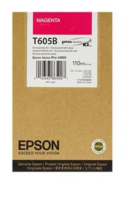 Epson T605B Magenta UltraChrome K3 110ml Ink Cartridge