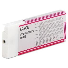Epson T6063 Vivid Magenta UltraChrome K3 220ml Ink Cartridge