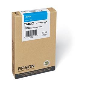 Epson T6032 Cyan UltraChrome K3 220ml Ink Cartridge