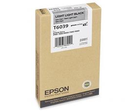 Epson T6039 Light Light Black UltraChrome K3 220ml Ink Cartridge