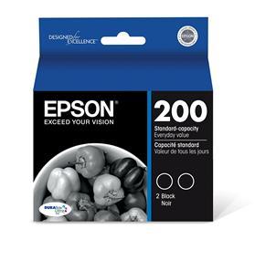 Epson 200 Black 2-Pack Ink Cartridges