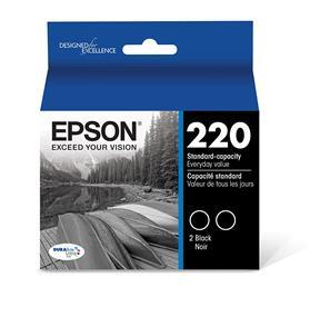 Epson 220 Black 2-Pack Ink Cartridges