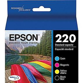 Epson 220 Black+C/M/Y Ink Cartridges