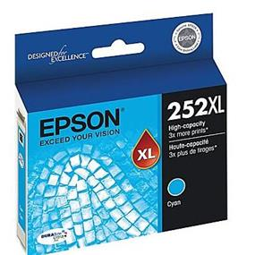 Epson 252XL High Capacity Cyan Ink Cartridge(T252XL220)