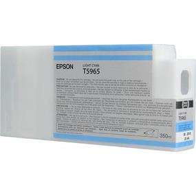 Epson T5965 Light Cyan Ultrachrome HDR 350ml Ink Cartridge