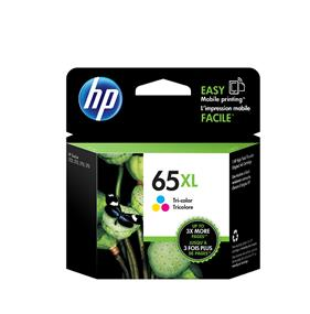 HP 65 XL Tri-colour High Yield Original Ink Cartridge (N9K03AN)