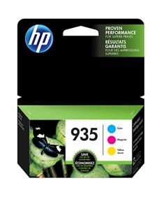 HP 935 Cyan, Magenta & Yellow Original Ink Cartridges, 3 pack (N9H65FN)