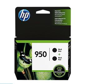 HP 950 Black Original Ink Cartridges, 2 pack (L0S28AN)