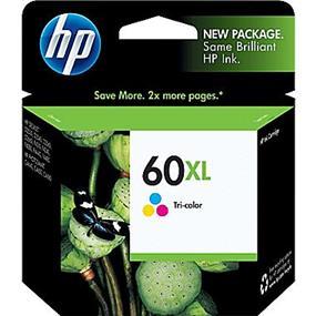 HP 60XL Tri-colour High Yield Original Ink Cartridge (CC644WN)