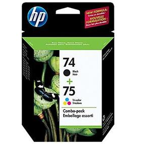 HP 74 Black & 75 Tri-colour Original Ink Cartridges, 2 pack (CC659FN)