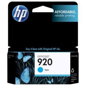 HP 920 Cyan Original Ink Cartridge (CH634AN)
