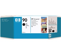 HP #90 Black Ink Cartridges - 400 ml (C5058A)