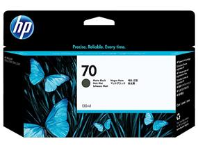 HP 70 Matte Black Ink Cartridges (C9448A)